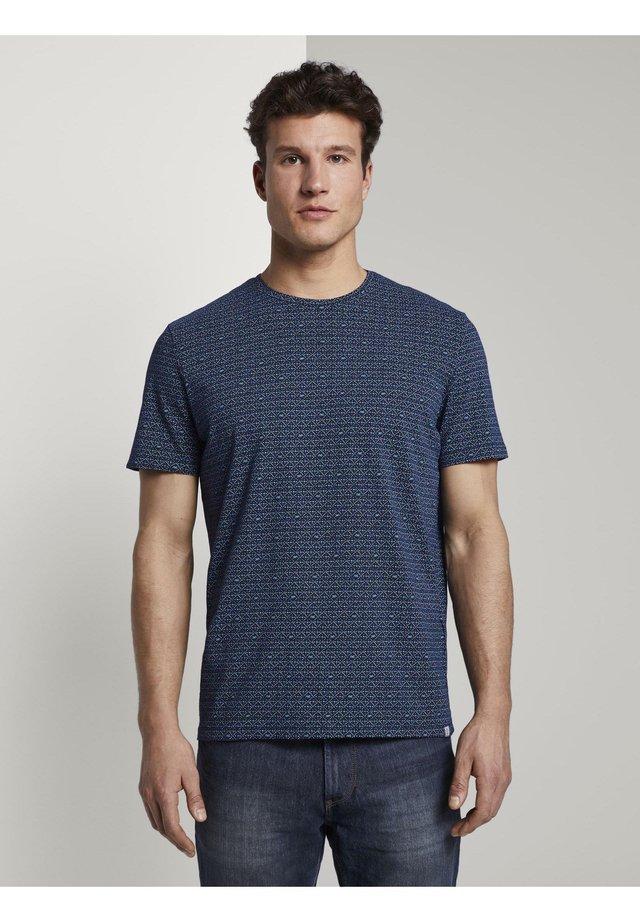 T-shirt print - blue diamont palm tree design