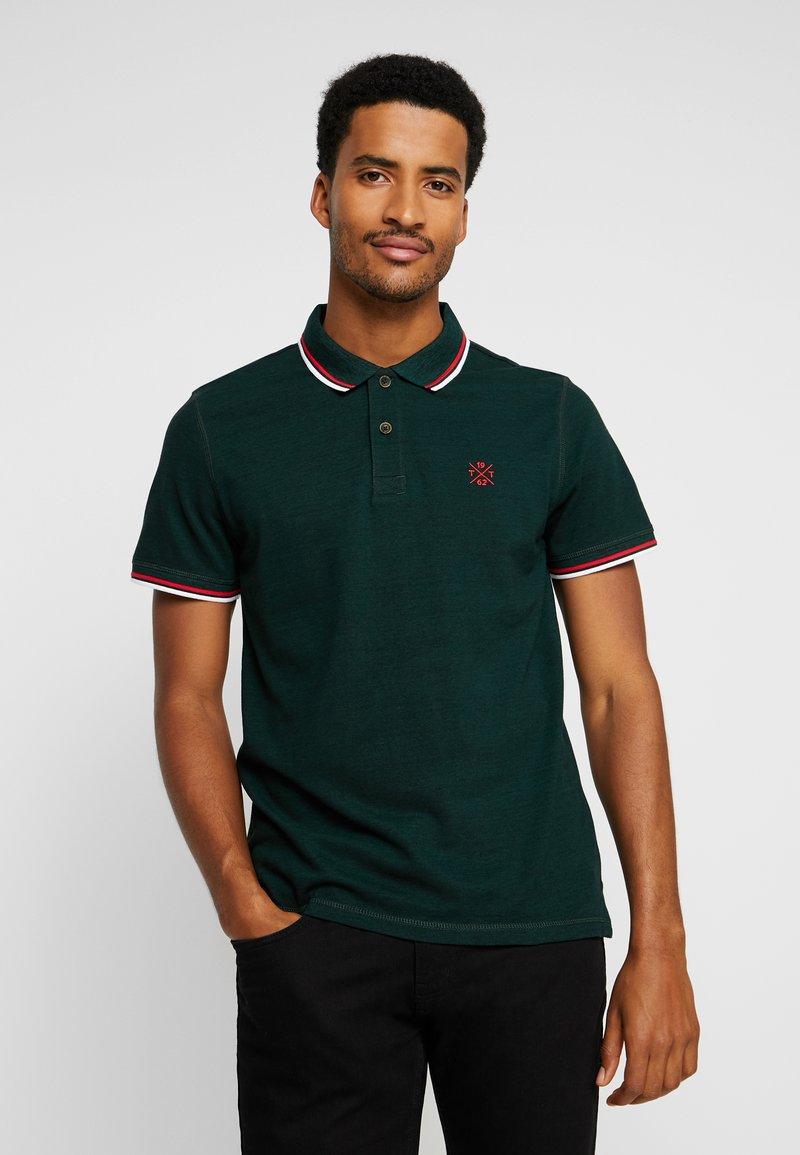 TOM TAILOR - Poloshirts - fairway green black