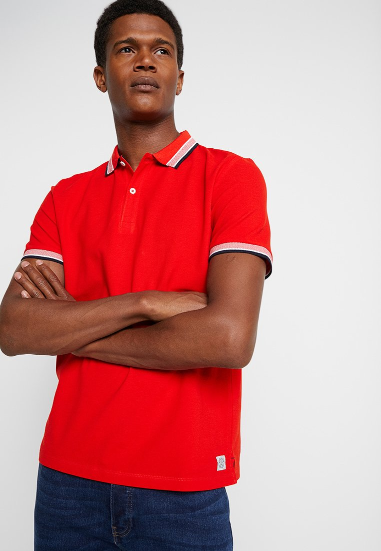 TOM TAILOR - WORDING TIPPING - Poloshirts - basic red