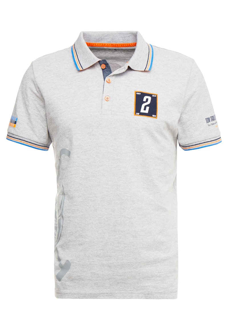 TOM TAILOR - DECORATED TEAM - Poloshirts - middle grey melange