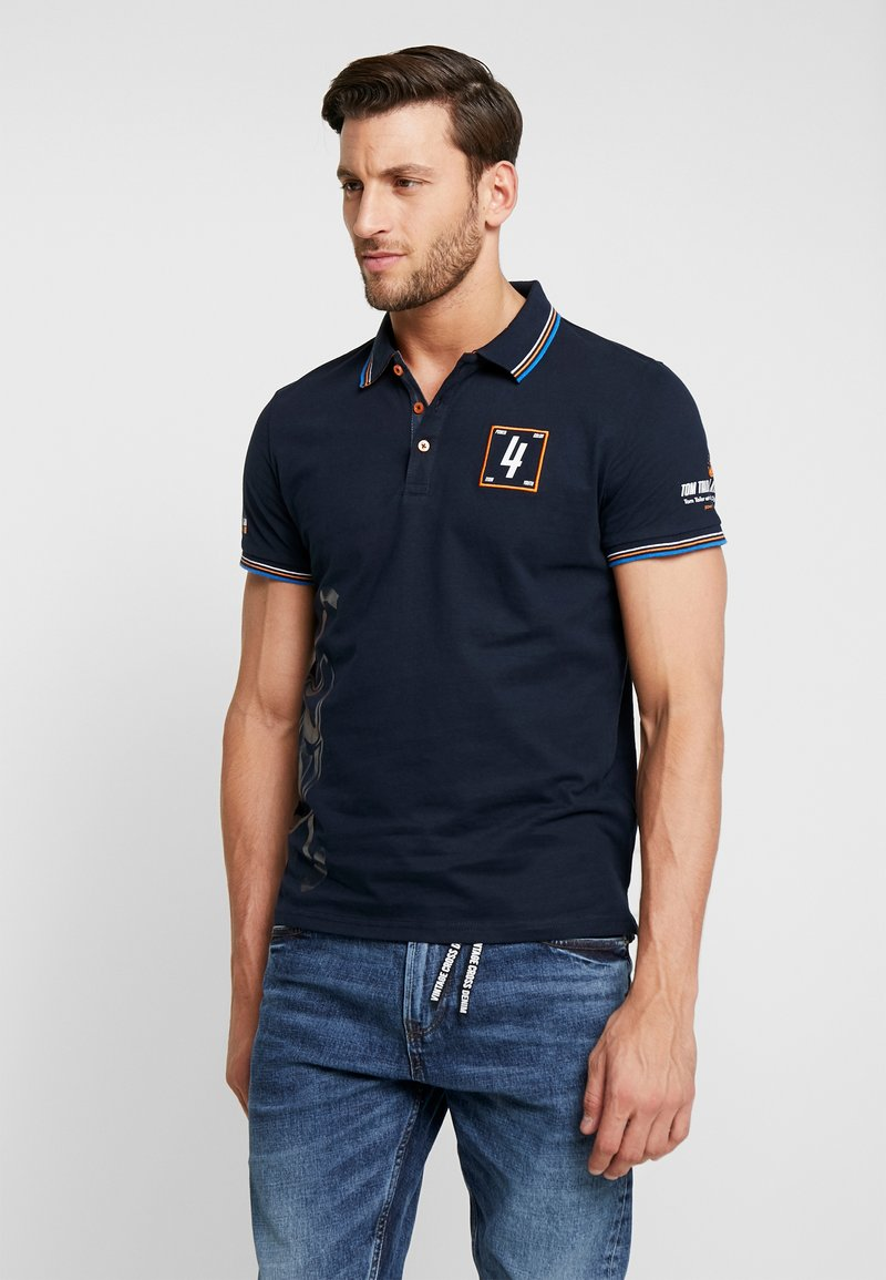 TOM TAILOR - DECORATED TEAM - Poloshirts - sky captain blue