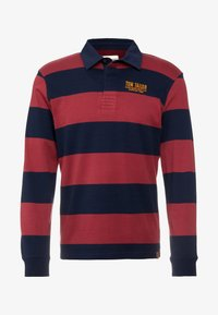 TOM TAILOR - STRIPED LONGSLEEVE - Polo - red - 4