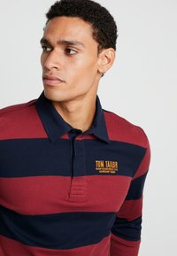 TOM TAILOR - STRIPED LONGSLEEVE - Polo - red - 3