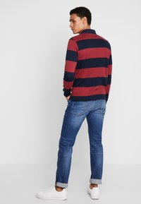 TOM TAILOR - STRIPED LONGSLEEVE - Polo - red - 2