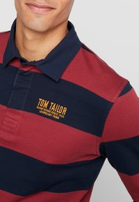 TOM TAILOR - STRIPED LONGSLEEVE - Polo - red - 5