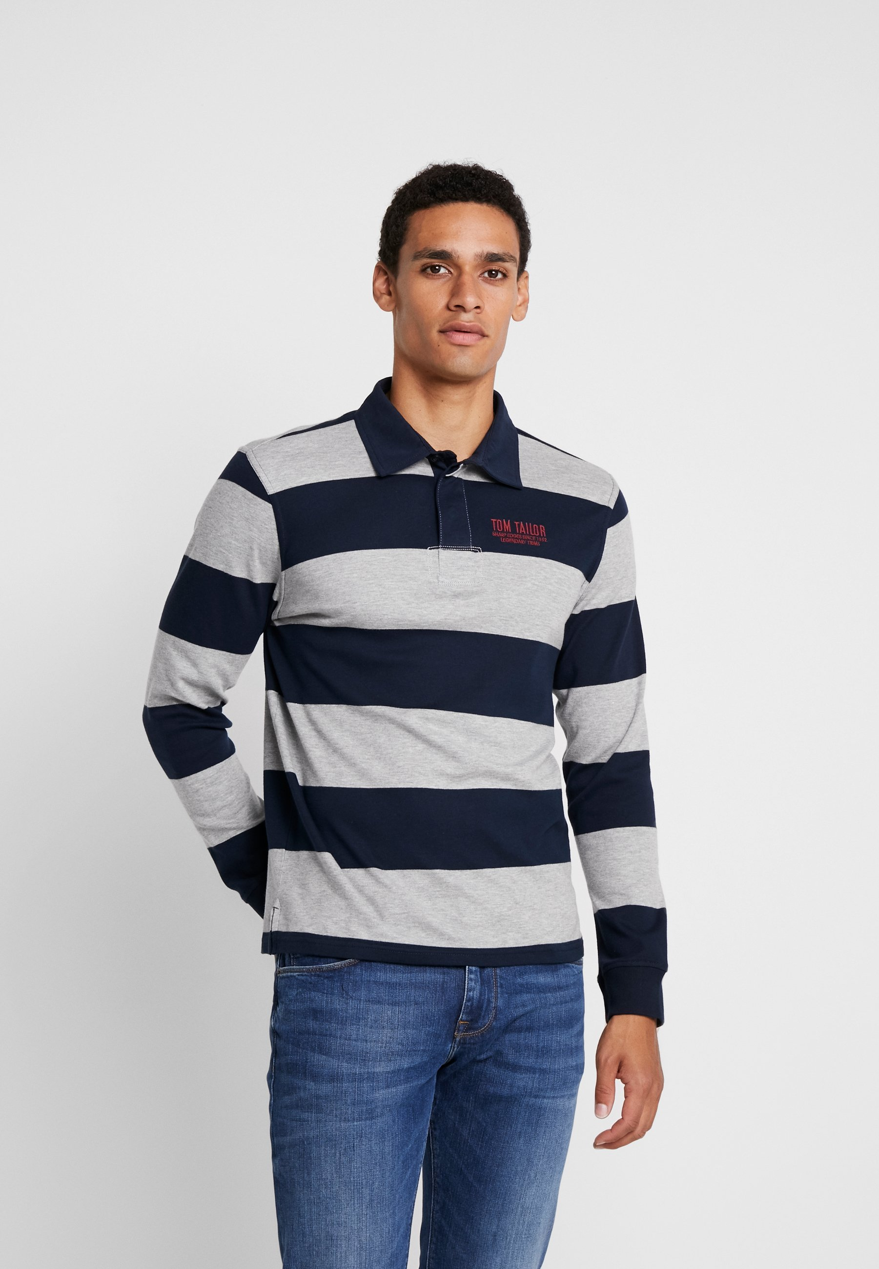 Tailor Grey Tom LongsleevePolo Tailor Striped Striped Tom LongsleevePolo OPn0w8k