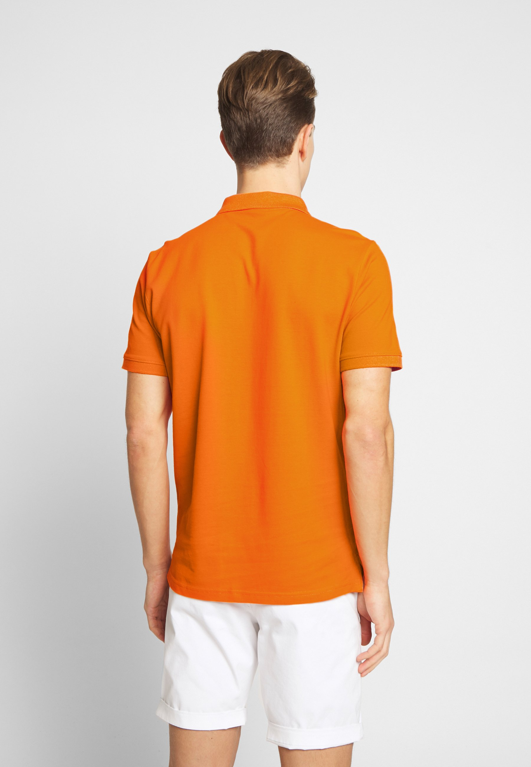 TOM TAILOR BASIC WITH CONTRAST - Koszulka polo - exuberance orange/yellow