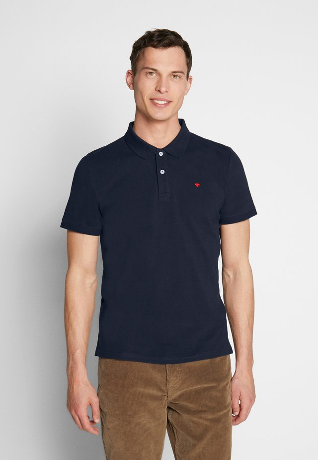 BASIC WITH CONTRAST - Koszulka polo - sky captain blue