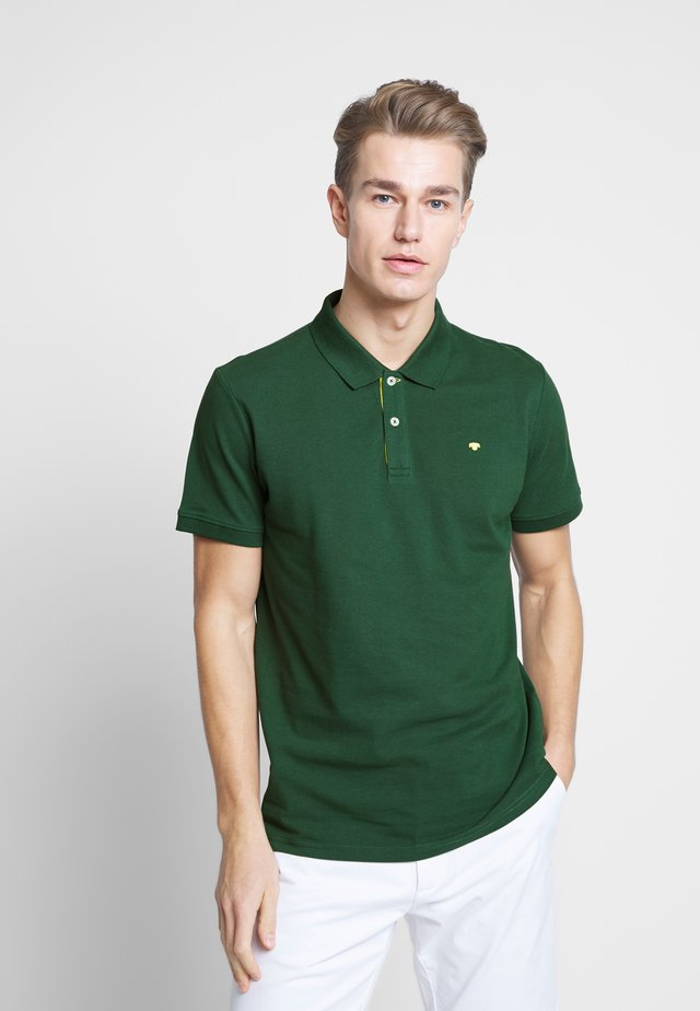 BASIC WITH CONTRAST - Polo - pineneedle green