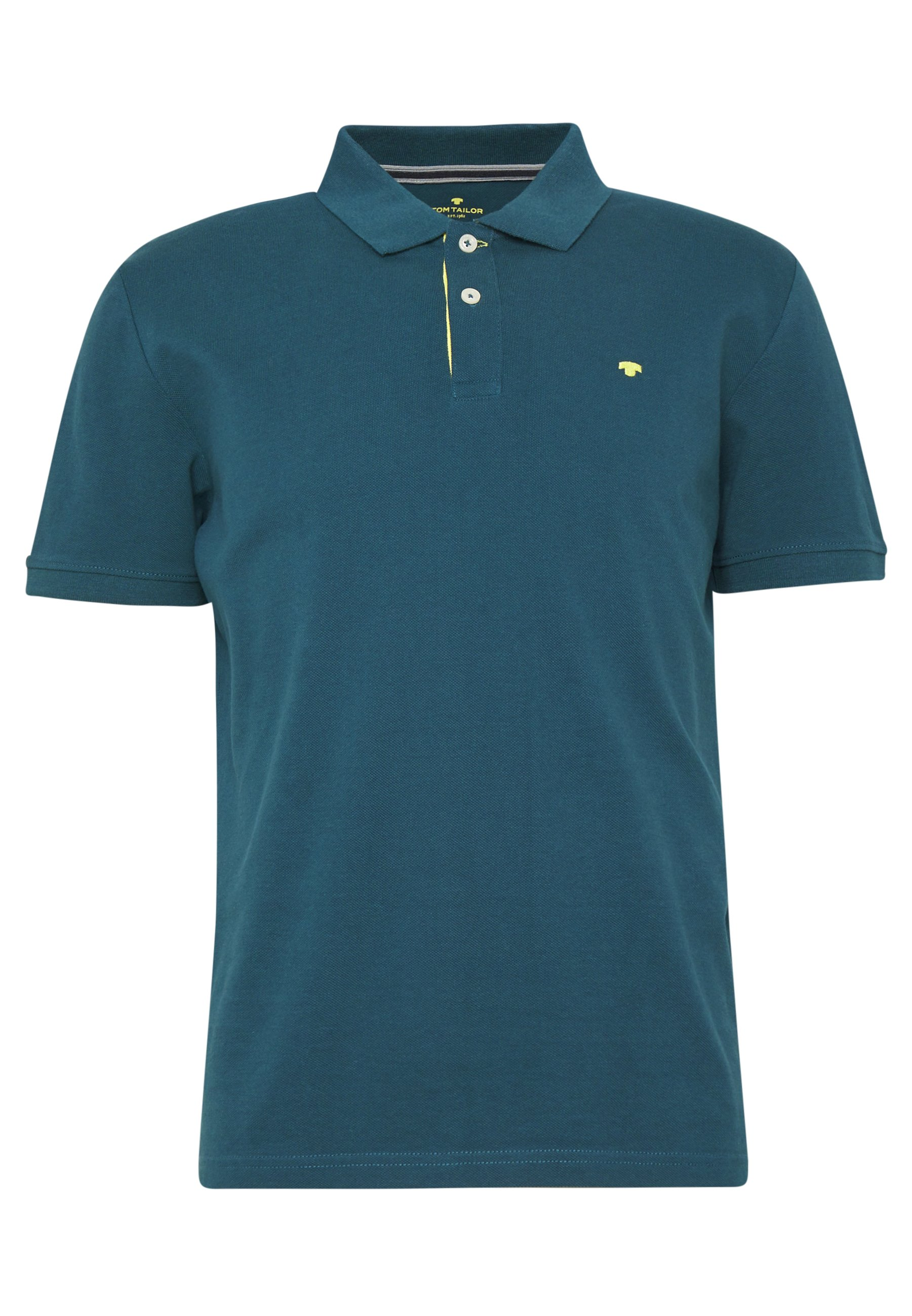 Tom Tailor Basic With Contrast - Polo Deep Pond Green