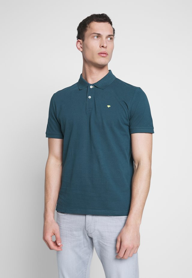 BASIC WITH CONTRAST - Polo - deep pond green