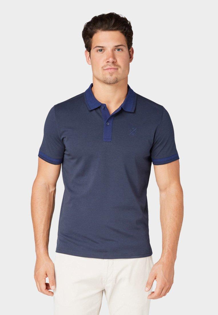 TOM TAILOR - MIT LOGO-STICKEREI - Polo - sky captain blue