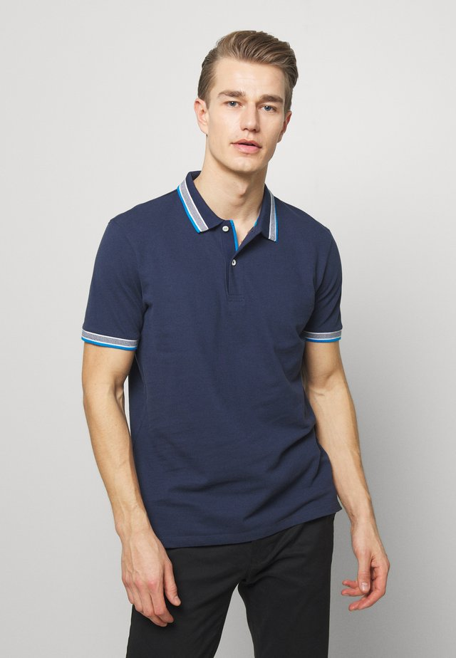 WORDING TIPPING - Poloshirt - black iris blue