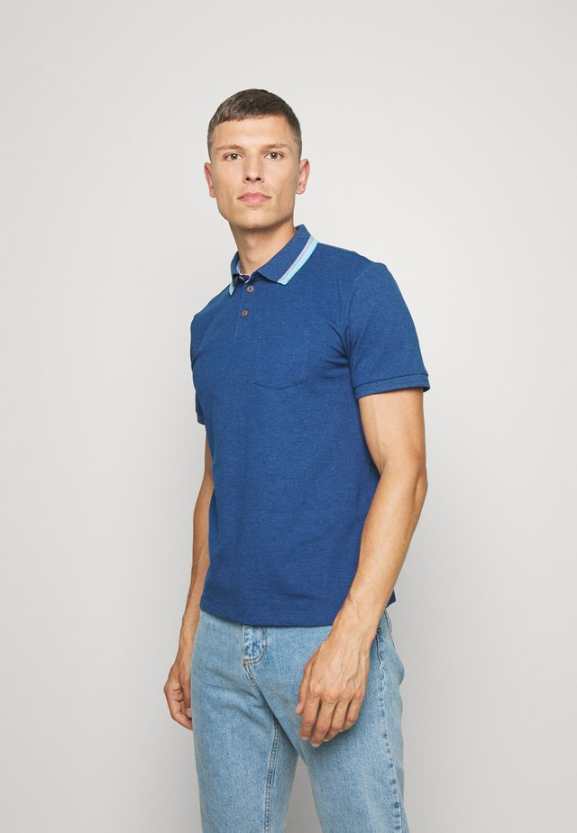 WITH TIPPINGS - Poloshirt - after dark blue white melange