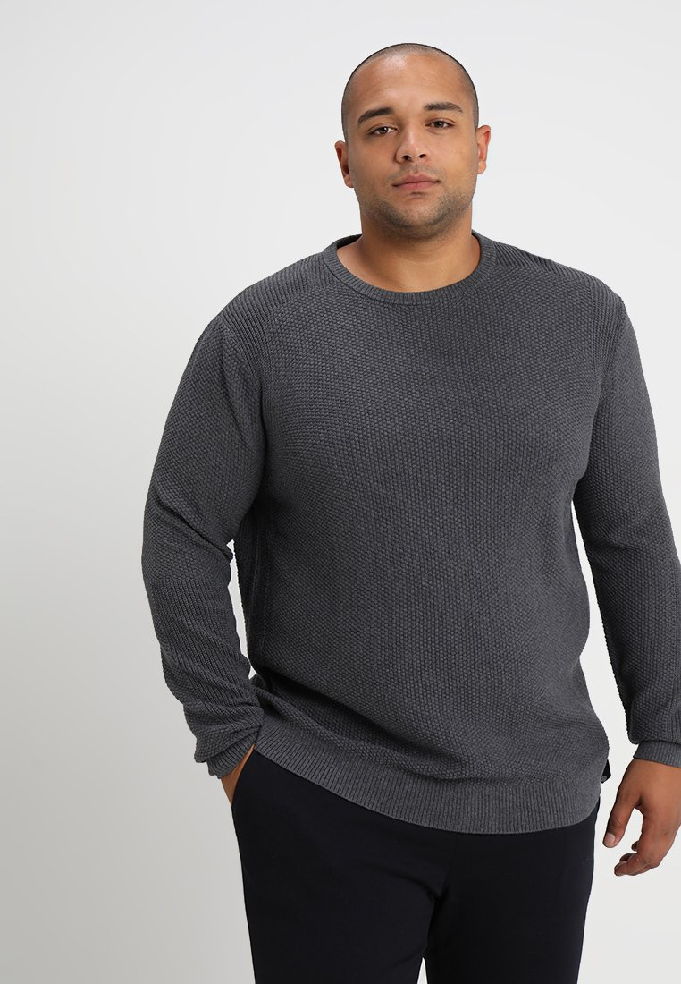 TOM TAILOR - MIX CREW NECK - Jersey de punto - magnet grey melange