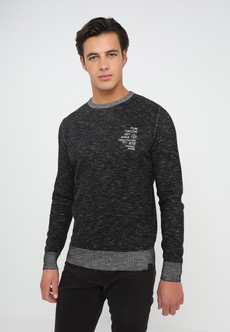 TOM TAILOR - PLATED - Jersey de punto - black/grey