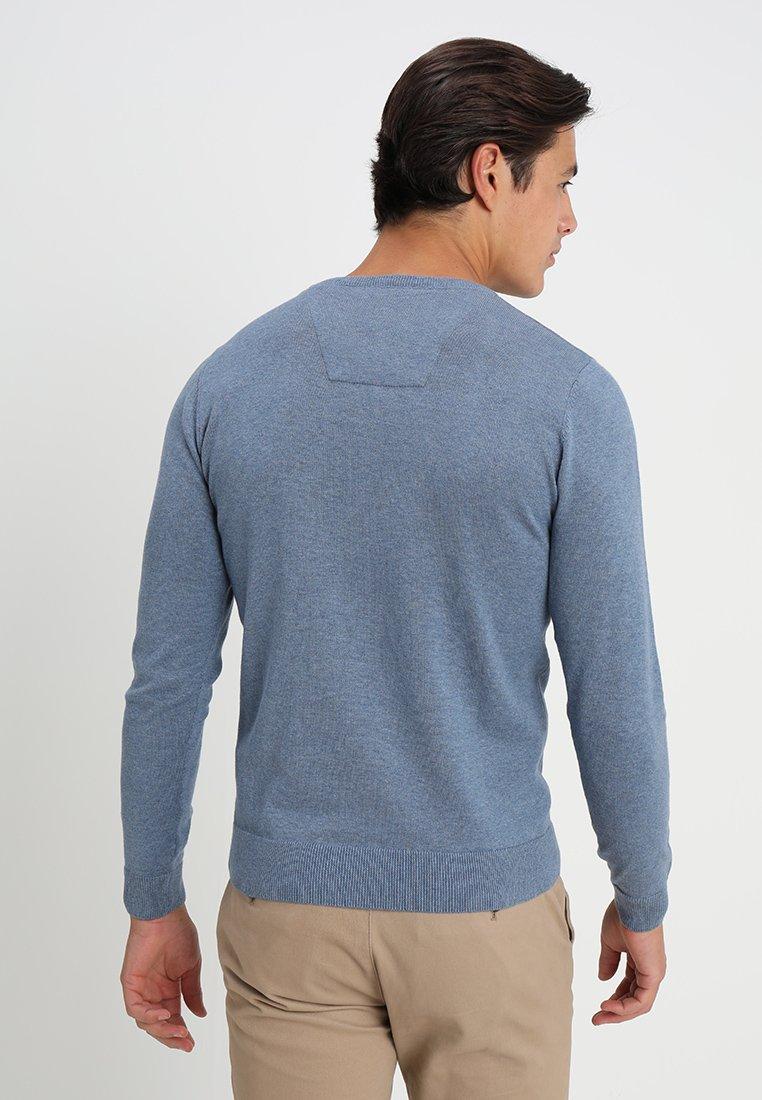Blue Tom Basic Modern Mid Greyish Melange Tailor StylePullover OkiuZXP