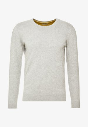 Stickad tröja - light soft grey melange