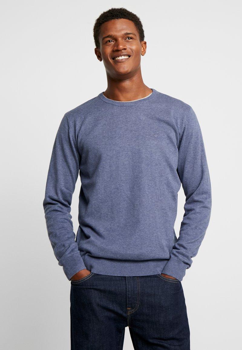 TOM TAILOR - BASIC CREW NECK - Jersey de punto - vintage indigo blue melange