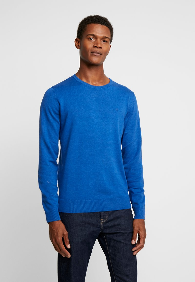 TOM TAILOR - BASIC CREW NECK - Jersey de punto - dark active blue melange