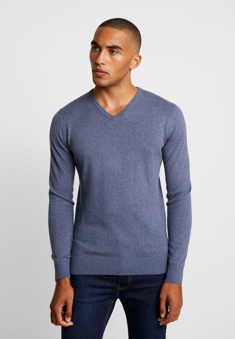 TOM TAILOR - BASIC - Stickad tröja - vintage indigo blue melange