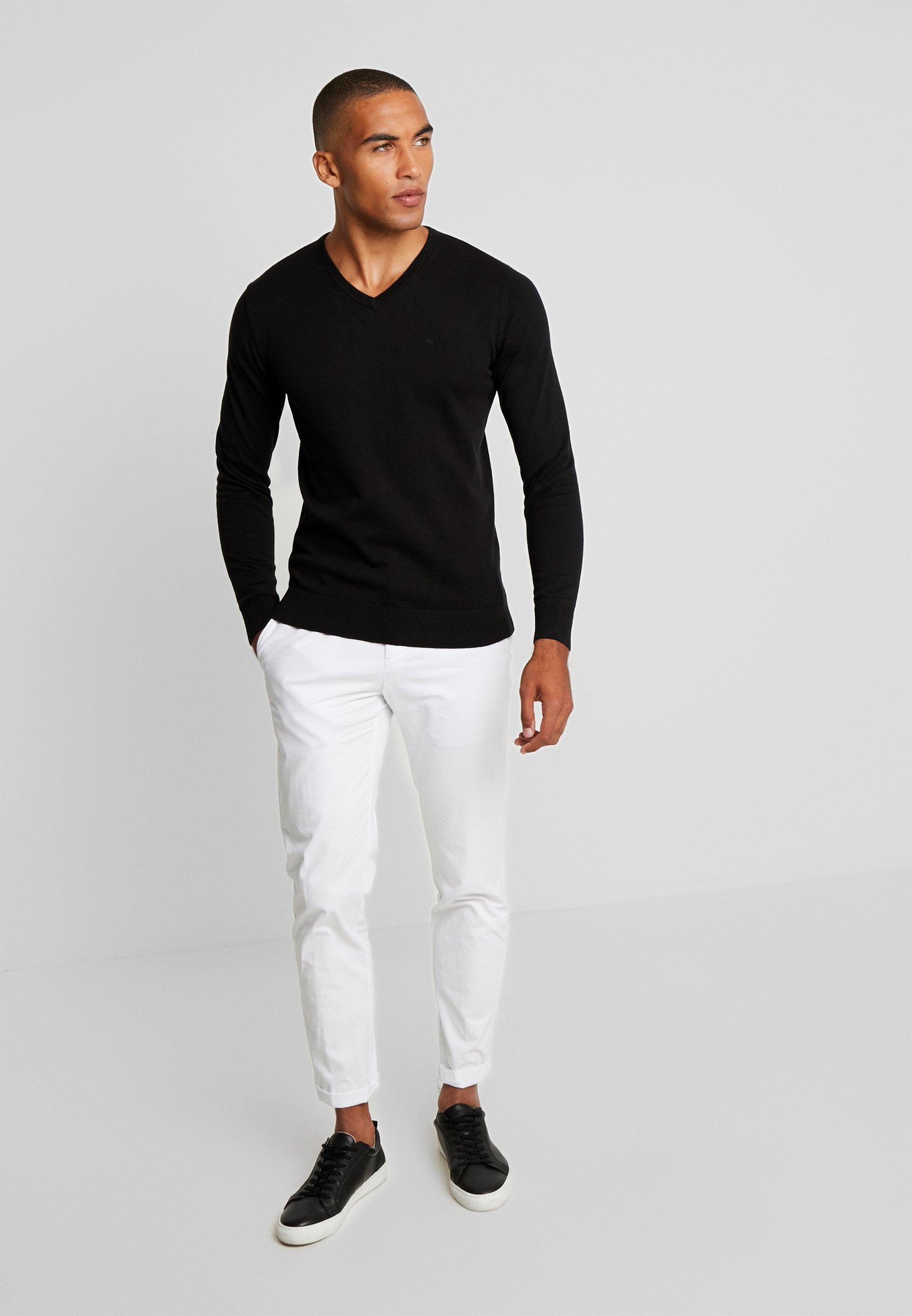 Tom Tailor Basic V Neck - Pullover Black