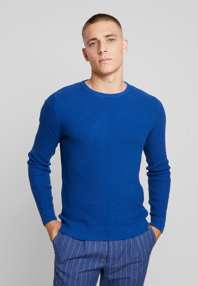 TOM TAILOR - MODERN BASIC STRUCTURE - Strickpullover - hockey blue