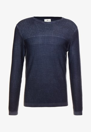 WASHED STRUCTURED SWEATER - Neule - sky captain blue
