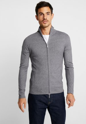 MODERN BASIC JACKET - Cardigan - grey black snow flake mouline