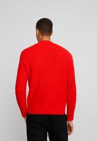 TOM TAILOR - FISHERMAN CREW NECK  - Stickad tröja - orange red - 2