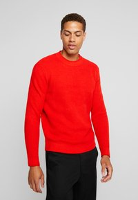TOM TAILOR - FISHERMAN CREW NECK  - Stickad tröja - orange red - 3