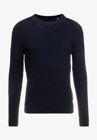 TOM TAILOR - FISHERMAN CREW NECK  - Stickad tröja - sky captain blue - 3