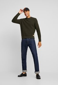TOM TAILOR - FISHERMAN CREW NECK  - Jumper - mud olive - 1