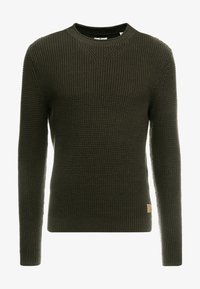 TOM TAILOR - FISHERMAN CREW NECK  - Jumper - mud olive - 3