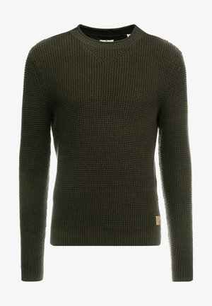 FISHERMAN CREW NECK  - Trui - mud olive
