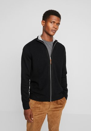 MODERN BASIC STRUCTURED JACKET - Cardigan - black/grey