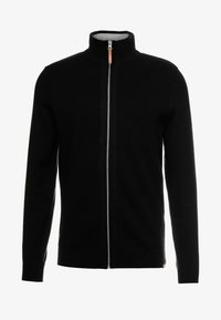TOM TAILOR - MODERN BASIC STRUCTURED JACKET - Neuletakki - black/grey - 4