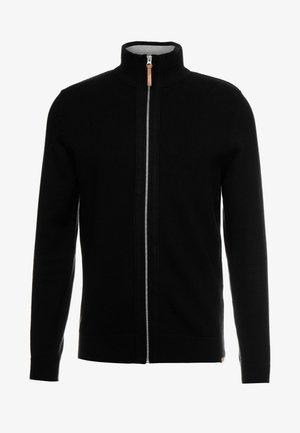 MODERN BASIC STRUCTURED JACKET - Cardigan - black/grey