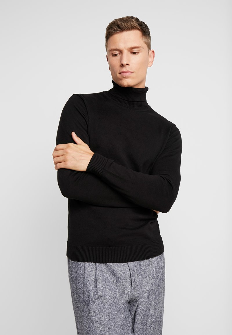 TOM TAILOR - TURTLE NECK - Pullover - black