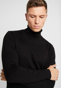 TOM TAILOR - TURTLE NECK - Pullover - black - 4