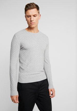 JACQUARD SWEATER - Sweter - grey heather melange