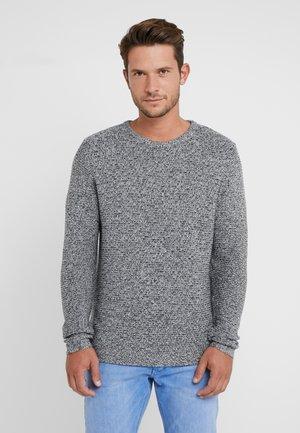 HALF MOULINE - Stickad tröja - black/light grey/white