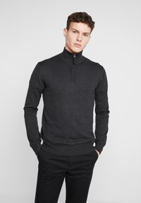 TOM TAILOR - FINE STRIPED  - Jersey de punto - grey - 0