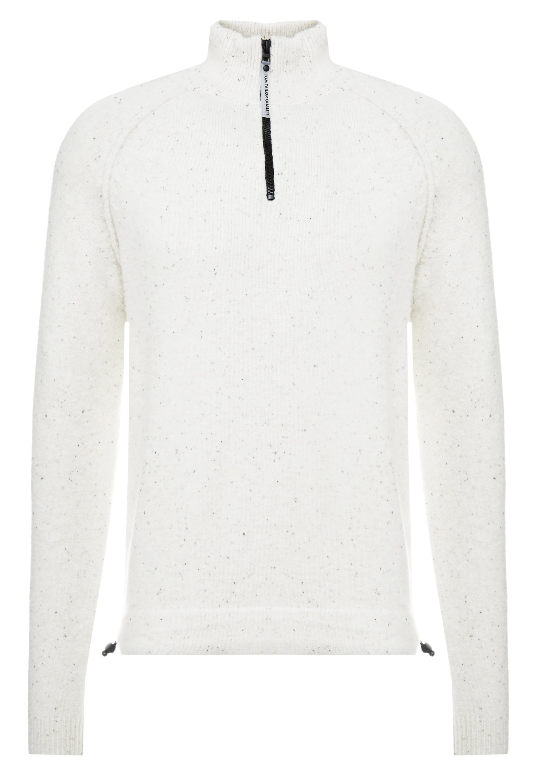 Tom Tailor Cosy Troyer - Stickad Tröja Offwhite