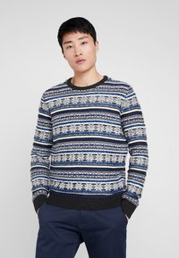 TOM TAILOR - JACQUARD - Jumper - anthracite/grey - 2