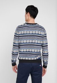 TOM TAILOR - JACQUARD - Jumper - anthracite/grey