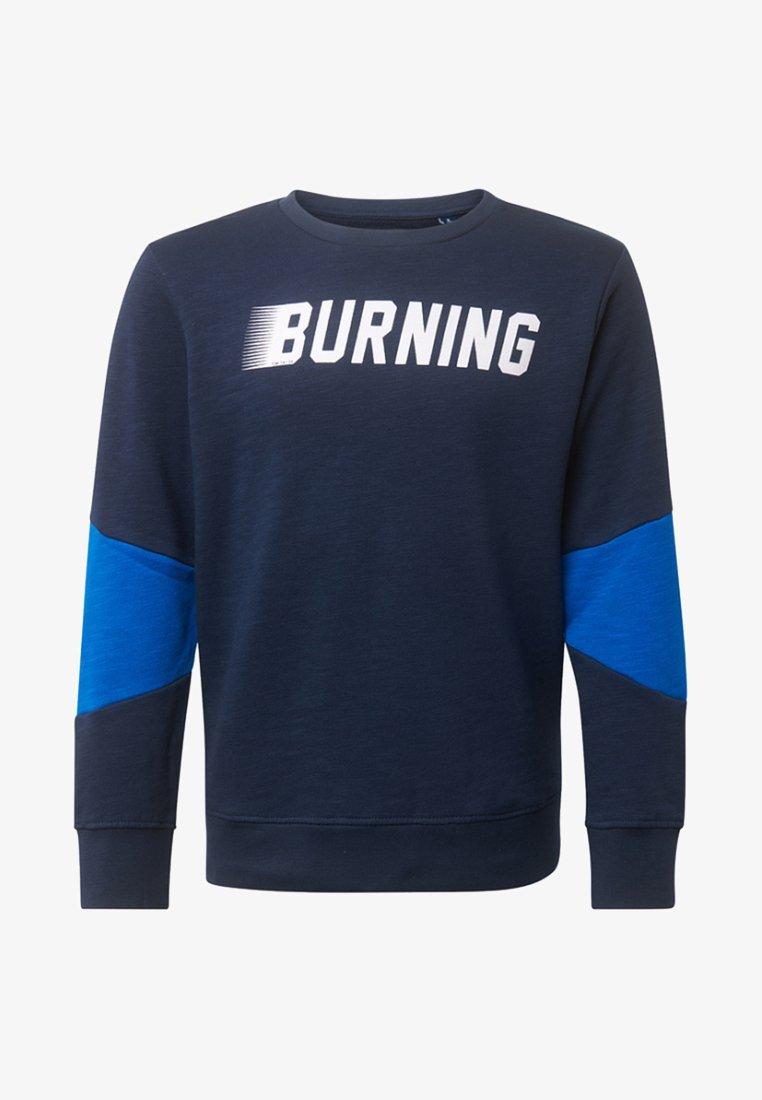 TOM TAILOR - MIT SCHRIFT - Sweatshirt - blue