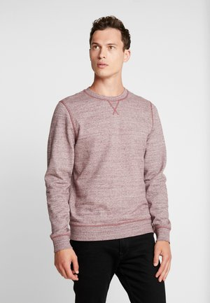 CREW NECK - Sweater - burgundy melange