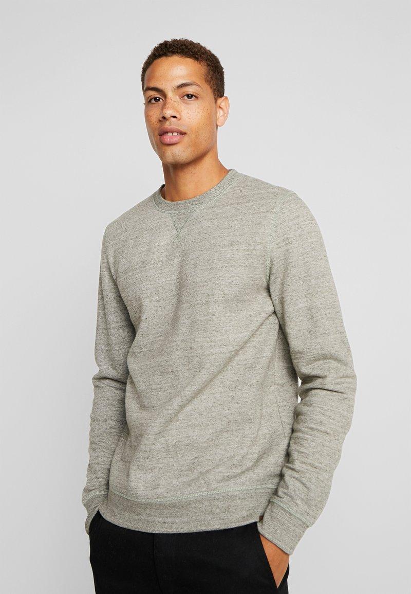 TOM TAILOR - CREW NECK - Sweatshirt - green multi melange