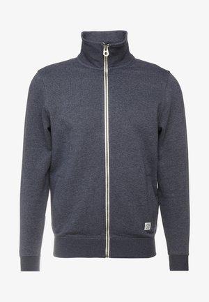 Zip-up hoodie - washed navy melange/blue
